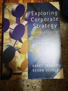 Exploring Corporate Strategy 5th edition