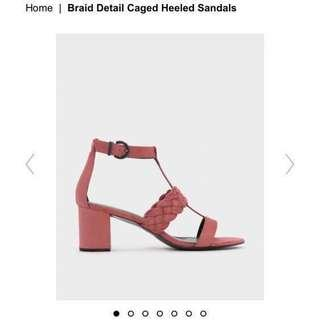 [NEW] CHARLES & KEITH WOMEN HEELED SANDAL 💯 AUTHENTIC