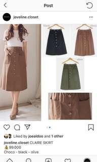 Claire black skirt