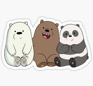 we bare bears trio 🐻