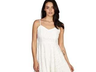 Cotton on lace dress white silk