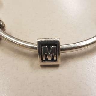 "Pandora ""M"" charm"