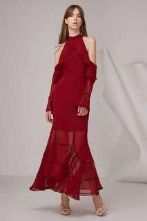 Keepsake Lovers holiday gown in plum