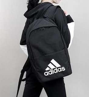 🚚 Adidas Classic Backpack 經典LOGO 後背包 黑色 CF9008