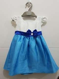 Blue and White Dress - 18 mos.