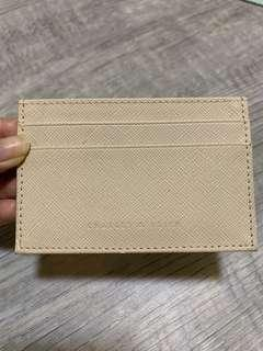 Charles and Keith Pale Nude Card Holder