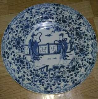 ANTIQUE porcelain plate blue & white