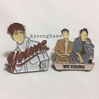 [READY STOCK] EXO ENAMEL PIN WE YOUNG X YOUNG SM STATION