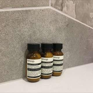 Aesop Minis (conditioner x2 and body balm x1)