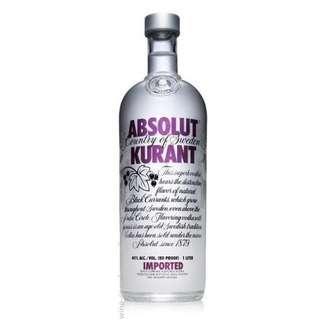 Absolut Kurant - Black Currant Flavored Vodka