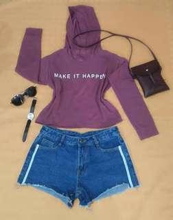 Croptop hoodie