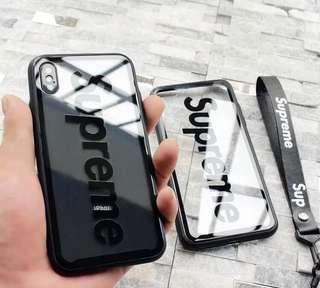 Supreme Transparent Soft Glass iPhone Casing