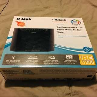 D-Link Gigabit ADSL2+ Modem Router Dual Band Wireless AC1200