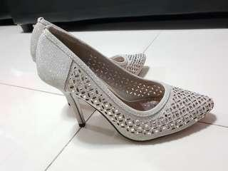 So Fab Silver Wedding Pre-nup Shoes
