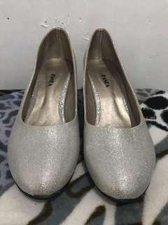 Zanea Silver Shoes