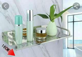Stainless steel bathroom Bathroom single layer rack hanging kitchen single layer shelf seasoning storage frame