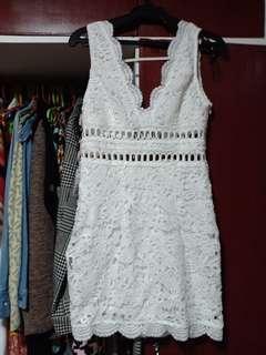 F21 crochet lace bodycon dress