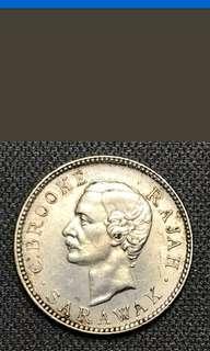 Sarawak 5 cents coin 1900H