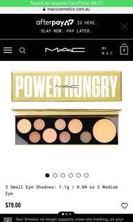 Power hungry eyeshadow pallet