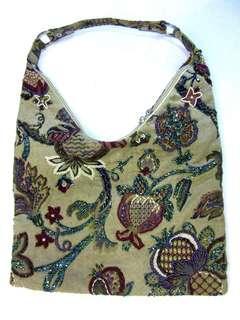 Bohemian beaded shoulder bag