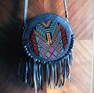 Black Bohemian Crossbody Bag