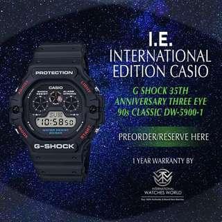 CASIO INTERNATIONAL EDITION G SHOCK THREE EYE CLASSIC DW5900-1 FOR 35TH ANNIVERSARY