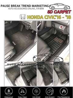 Honda Civic 2016 - 2018 5D Carpet