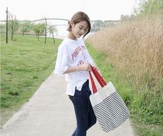 Korea Line Tote Bag