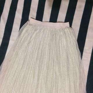 Tutu skirt creamy gold