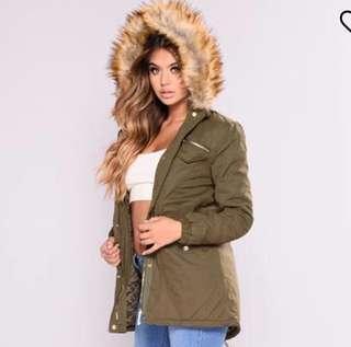 Fashion Nova Green Winter Jacket