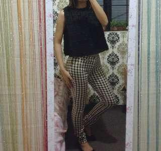 Zara houndstooth pants