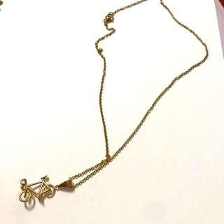 *REPRICED* bicycle Pendant Necklace