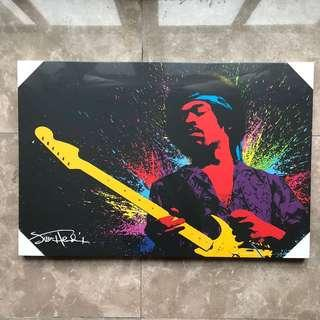 Jimi Hendrix Canvas Poster (Authentic)