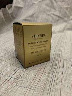 全新 shiseido future solution LX Total Radiance foundation 粉底