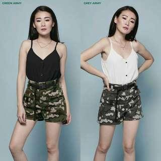 Buckle army shorts