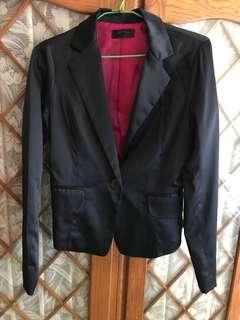 緞面西裝外套