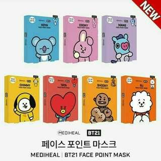 Official face point mask BT21