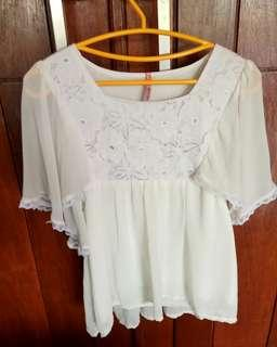 Preloved blouse wanita chiffon