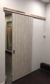 Sliding door and partition wall