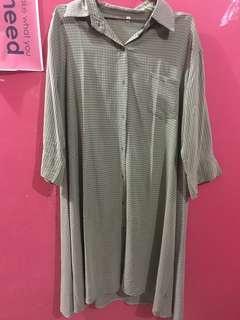 Kutwer || cardigan hijau || blouse atasan wanita || kemeja