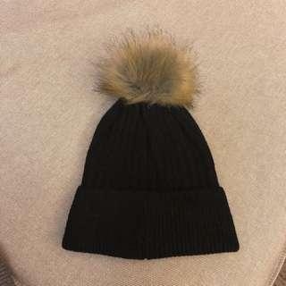 Winter knitted hat black