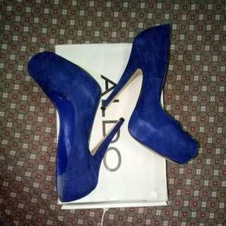 ALDO Blue Suede Stilettos