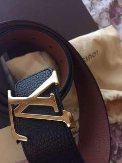 Preloved LV Belt Two Tone color