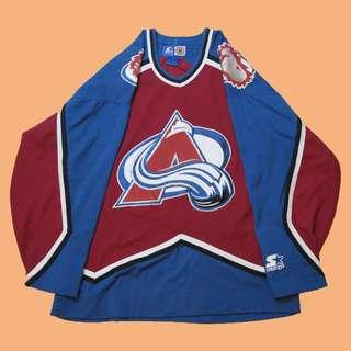 JCI:稀少逸品 Vintage Starter NHL 科羅拉多 雪崩隊 冰球衣 / 古著 / 90s嘻哈 / NFL