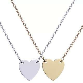 🚚 Customise Heart Tag Necklace (With Laser Engraving)