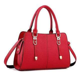 Instock Leather Ladies Sling Bag with 2 Colors
