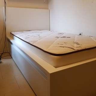 IKEA Malm Twin Bed and Mattress