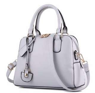 Instock Leather Ladies Sling Handbag Grey