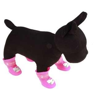 Dog Shoes -Size S, M and L  4 Colours - Blue, Red, Pink and Black