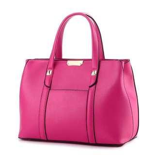 Instock Leather Sling Bag Pink